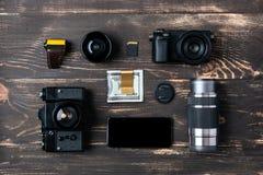 Wycieczki pojęcie - rzeczy mężczyzna akcesoria i odzież Obraz Stock