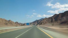 Wycieczki samochodowej 4k czasu upływ blisko Dubai zbiory wideo