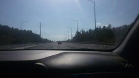 Wycieczki samochodowej przejażdżki samochodowy słoneczny dzień obrazy royalty free