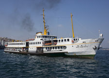 Wycieczki turysycznej łódź w Bosphorus Obraz Stock