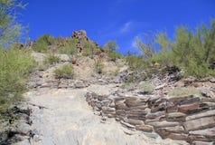 Wycieczkować ślad na Squaw szczytu górze w Phoenix, AZ Fotografia Royalty Free