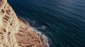 Wycieczkować ślad wzdłuż wybrzeża Episkopi zatoka Limassol okr?g zdjęcie wideo