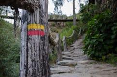 Wycieczkować etykietkę, wioska Foz De Egua, Portugalia Zdjęcie Royalty Free