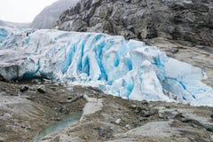 Wycieczkować na Nigardsbreen lodowu - Norwegia obrazy royalty free
