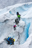 Wycieczkować na Nigardsbreen lodowu - Norwegia obraz stock