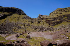 Wycieczkować up góry brandon na słonecznym dniu Zdjęcia Royalty Free