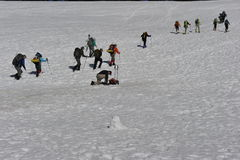 Wycieczkować w śniegu Zdjęcia Stock
