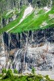 Wycieczkować Argentiere lodowiec z widokiem na masywu des Aig Zdjęcia Stock