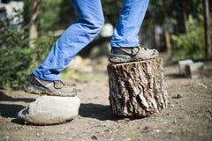 Wycieczkować buty Zdjęcia Stock