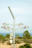 Wycieczkować kierunkowskaz na Costa Blanca Zdjęcie Stock