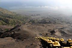 Wycieczkować krater góra Bromo Zdjęcia Stock