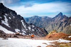 Wycieczkować monte cinto, Corsica zdjęcia royalty free