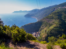 Wycieczkować w Cinque Terre Zdjęcia Stock