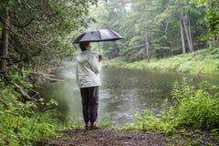 Wycieczkować w deszczu Obraz Royalty Free