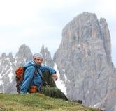 wycieczkowicz góry Zdjęcie Stock