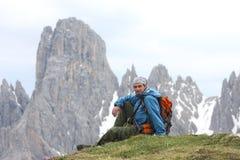 wycieczkowicz góry Obrazy Royalty Free