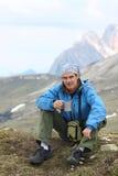 wycieczkowicz góry Fotografia Royalty Free