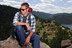 wycieczkowicza góry wierzchołek Zdjęcie Royalty Free