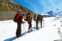 Wycieczkowicze w Górach Zdjęcie Stock