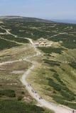 wycieczkowiczy gór lato Zdjęcie Stock