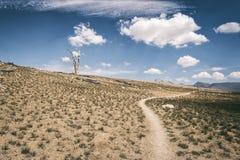 Wycieczkujący ślad w sierra Nevada góry Zdjęcia Royalty Free