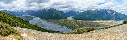 Wycieczkujący bealey ostrogi ślad, arthurs przechodzą, nowy Zealand 28 fotografia royalty free