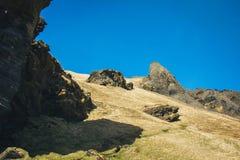 Wycieczkujący w Westman wyspach, Iceland Obraz Royalty Free