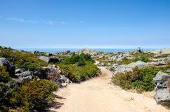 Wycieczkuje dziura, Covoa dos Conchos, Serra da Estrela, Portugalia Obraz Royalty Free