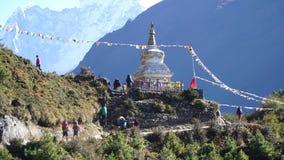 Wycieczkuje ślad podstawowy obóz Everest zdjęcie wideo