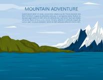 Wycieczkuje lub trekking natury tło Zdjęcia Stock