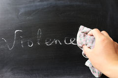 Wycierać z przemoc Fotografia Stock