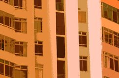 WYCINANKA wizerunek budynek W ŻÓŁTYCH odcieniach obraz stock
