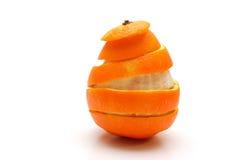 wycinanki formularzowa pomarańczowej skórki spirala zdjęcie royalty free