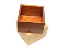 wycinek filiżanek ścieżki sake drewna Zdjęcia Royalty Free