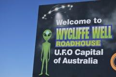 Wycliffe la capitale del UFO dell'Australia immagine stock