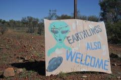 Wycliffe la capitale del UFO dell'Australia fotografia stock libera da diritti