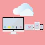 Wyczulona mobilna sieci chmura Zdjęcie Royalty Free