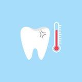 Wyczulona zębu mieszkania ikona Fotografia Royalty Free