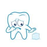 Wyczulony ząb okaleczający lód royalty ilustracja