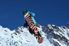Wyczynu kaskaderskiego narciarstwo Zdjęcia Royalty Free