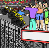 Wyczynu kaskaderskiego samochodu wydarzenie Zdjęcie Stock