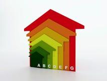 Wydajność energii domy ilustracja wektor