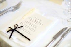 wydarzenia menu przyjęcia setu stół Fotografia Royalty Free