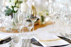 wydarzenia partyjny recepcyjny setu stołu ślub Zdjęcia Royalty Free