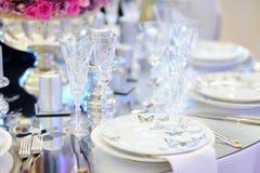 wydarzenia partyjny recepcyjny setu stołu ślub Zdjęcia Stock