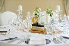wydarzenia partyjny recepcyjny setu stołu ślub Obraz Stock