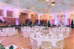wydarzenia partyjny recepcyjny setu stołu ślub obrazy stock