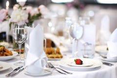 wydarzenia partyjny setu stół Obraz Royalty Free