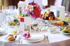 wydarzenia partyjny setu stół Zdjęcia Royalty Free