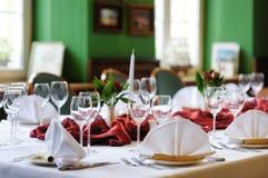 wydarzenia partyjny setu stół Zdjęcie Royalty Free